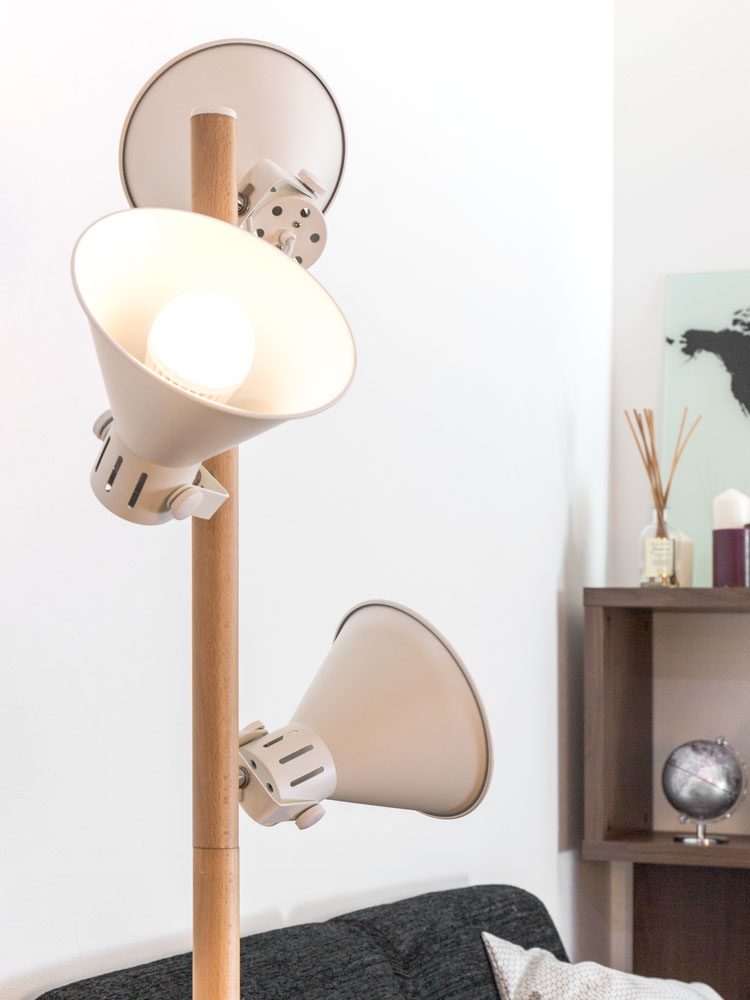 Modern Unique Floor Standing Lamp Wood Light Stand