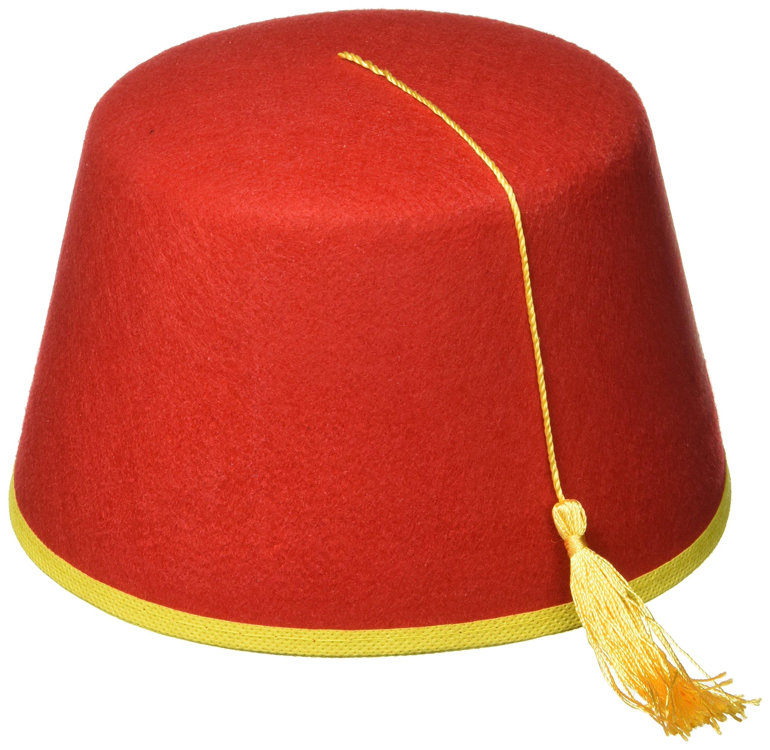 Get Quotations · Forum Novelties Red Fez Felt Hat 1dea7669ad78