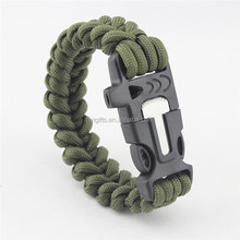 (High) 저 (quality safety compass <span class=keywords><strong>paracord</strong></span> bracelet 도매 생존 bracelet 와 칼