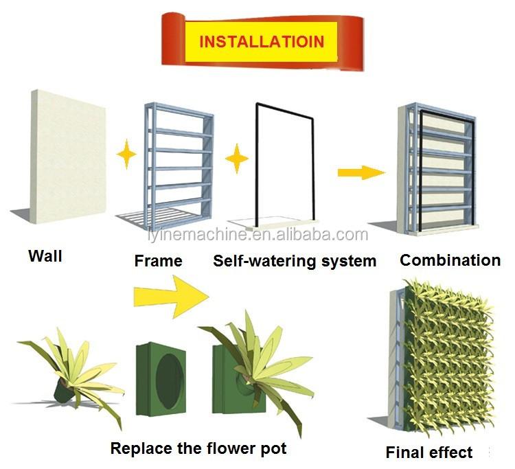 Vertical Modular Garden Planter Outdoor Plant Wall Green Wall System Buy Green Wall System