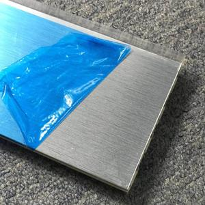 Brush Silver Kitchen Skirting With Aluminum Foil, PVC Kitchen Plinth, Plastic Plinth