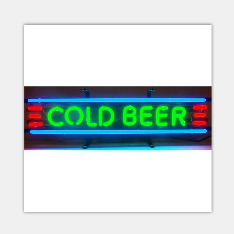 Wholesale China Factory Price Cold Beer Neon Sign Glass