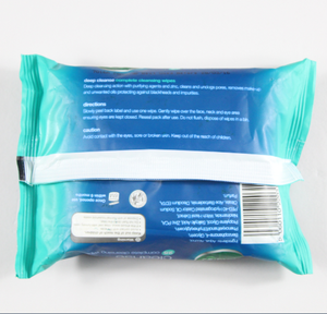 Customized packaging cleaning face make up remover wet wipes