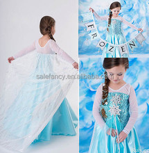 Unico super sottile Congelato custome per surgelati <span class=keywords><strong>dress</strong></span> elsa snow queen vestito QKC-1988
