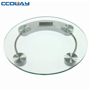 Low cost body fat bathroom glass digital electronic weigh scale