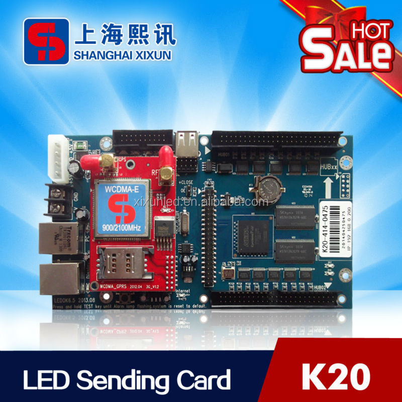 K20 WIFI wireless led display sending card 640x480 pixels