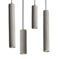 Industrial simple indoor lighting home and decorative lighting concrete pendant lamp LED pendant lighting