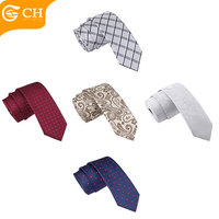 Wholesale Assorted Designs Polyester Cheap 6CM Skinny Neck Ties For Men