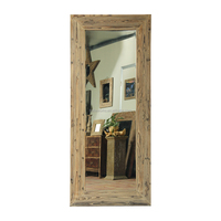 Nature Stained Wood Full Body Mirror,Large Mirror Frames For Wholesale