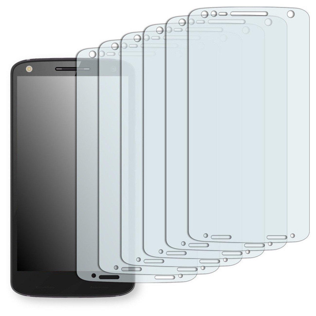 6x Golebo Anti-Glare screen protector for Motorola Moto X Force (Anti-Reflex, Air pocket free application, Easy to remove)