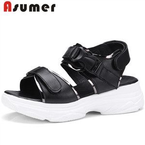 Asumer cheap wholesale new design fashion flat women summer sandals