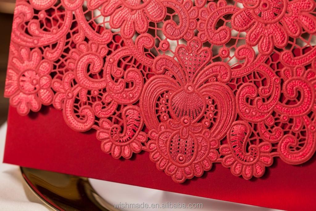 Wishmade Invitation Card Chinese Red Wedding Invitation Card CW057 ...