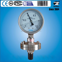 100mm Liquid filled flange threaded Compound Diaphragm Pressure Gauge
