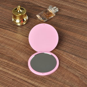 Pink color Compact Small Hand Held Mirror pocket mirror gift mini mirror