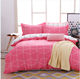 Silk Flowers Theme Bed Set Pink line Comforter Set bedding set