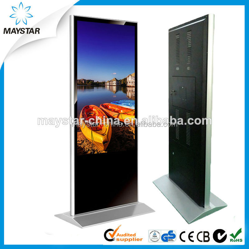 55 inch free standing 3g wifi full hd shopping mall advertising screen