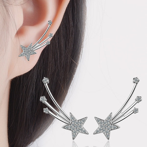 Fashion white gold plated accessories women elegant stud earring AAA zircon diamond inlay bijou earrings