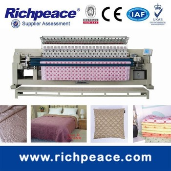 Multi-color Bed Sheet Making Duvat Production Quilting Embroidery Machine