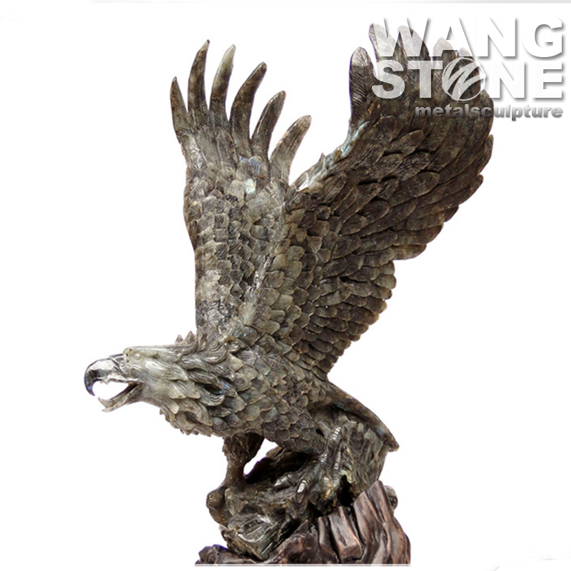 Eagle Spread Wings Animal Stone Carving Sculpture Art