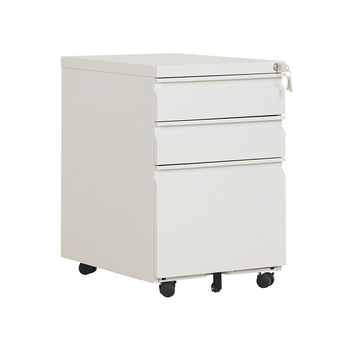 Goose-Neck Recessed Handle Steel Movable Drawer File Cabinet Office Equipment so called Mobile Cabinet