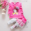 2016 New Fashion Baby Children Clothing Set Spring Autumn Kids clothes Girls Long Sleeve T Shirt