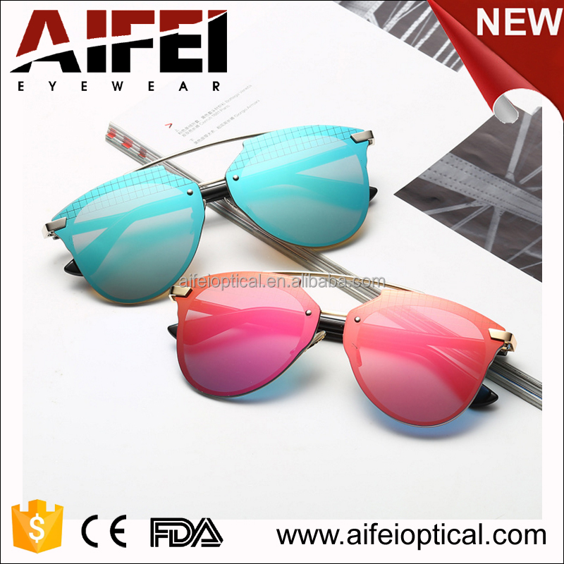 Summer metal fashionable sunglasses 2017 women