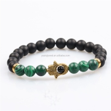 green malachite price stone bead hamsa bracelet, black onyx cheap evil eye bracelet