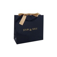 Luxury Paper Bags With Ribbon Handle Customized Manufacture