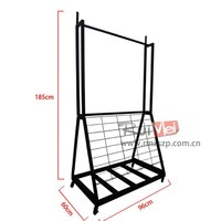 Factory Price High Quality perfect Metal Rug Display Stand with Wheels