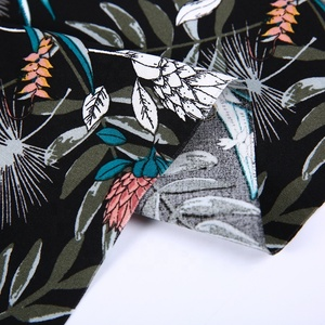 Good quality custom fabric printing service floral100% rayon challies fabric