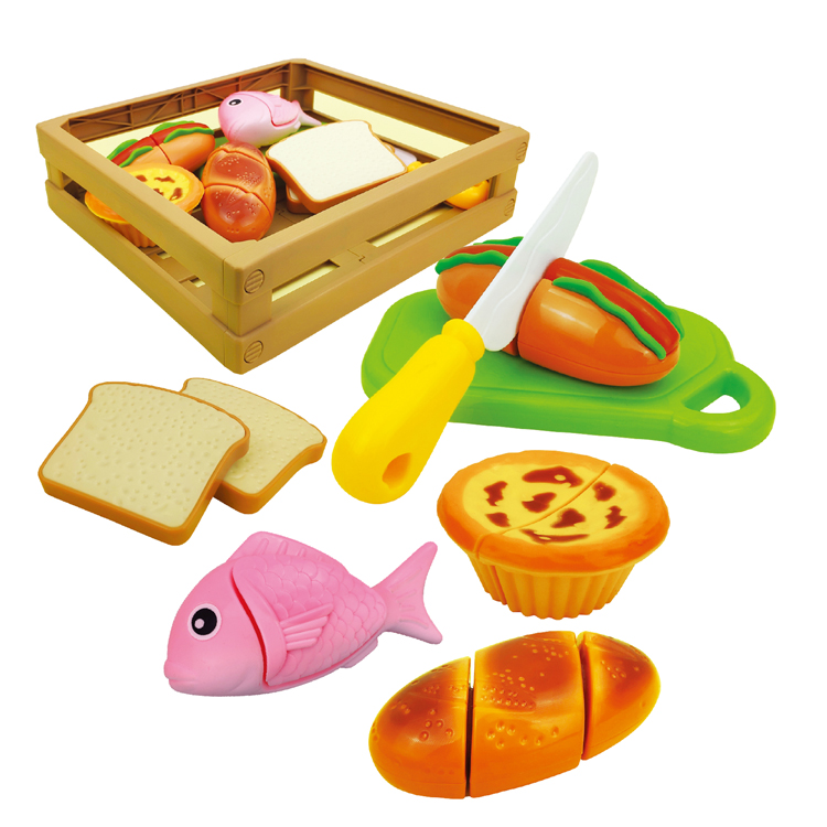 Children's Cutting Food Play Set 13pcs accessories Early Educational Development Pretend Play Kitchen Set