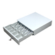 white plastic mini pos cash box cash drawer