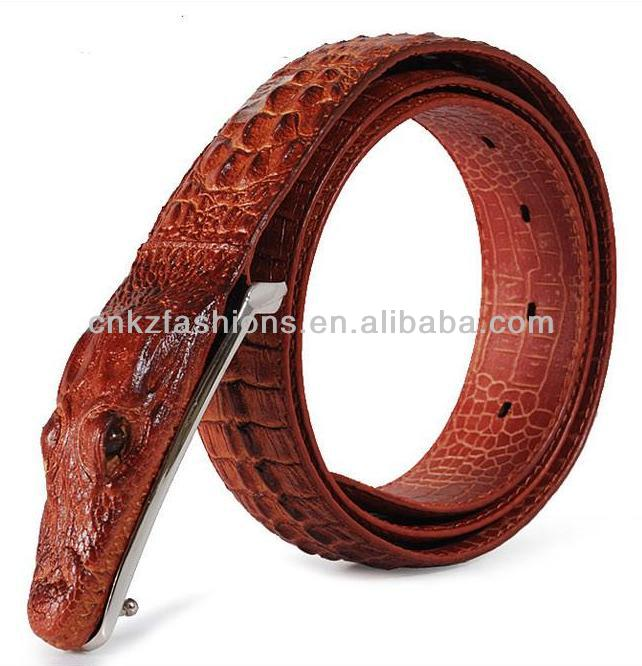Free shipping genuine leather crocodile leather <strong>belt</strong> for man