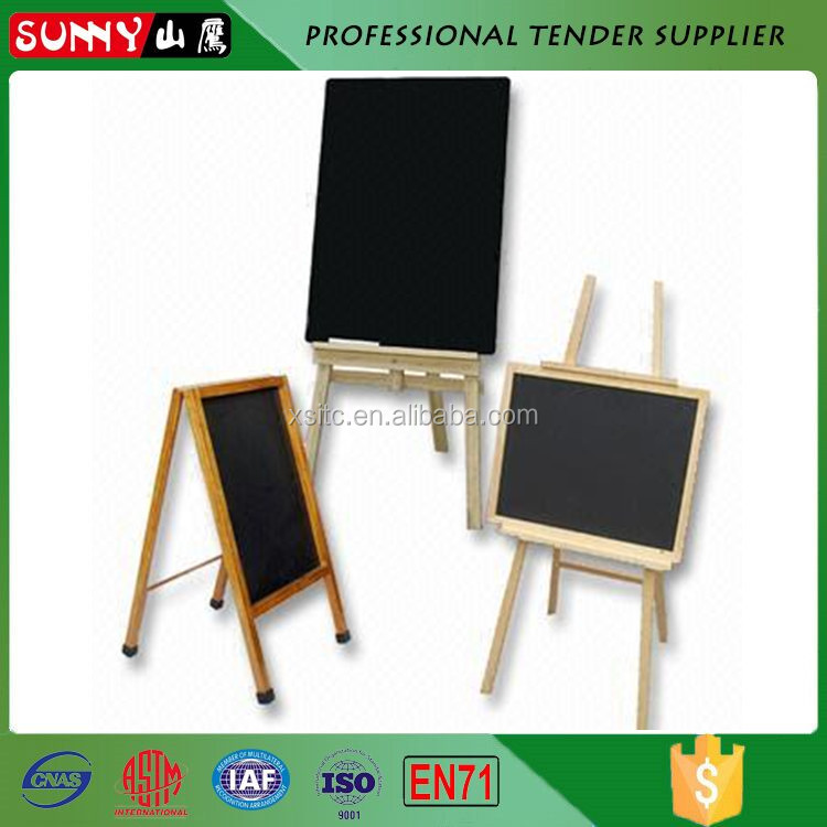 Country rustic high quality folding chalk writing blackboard for cafe