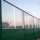 High quality highway sound barrier wall railway/ fence aluminum steel sound noise barrie /acrylic sheet sound panel