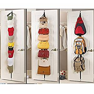 Genial Get Quotations · WINOMO Over Door Straps Door Back Hook Hanger Hat Cap Bag  Clothes Rack Holder Straps Hanger