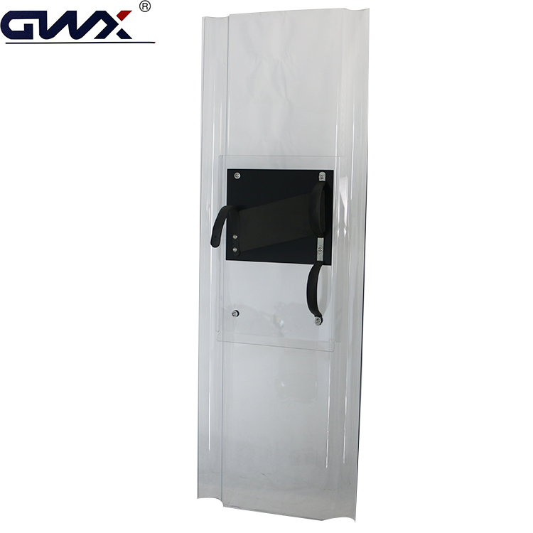 Philippines Covered edge Transparent PE Polycarbonate anti riot shield