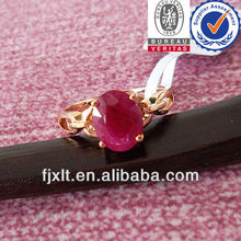 Concise Fashion Customized 18K Gold Real Ruby Rings