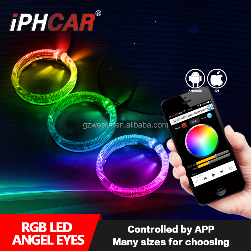 2017 Hot Selling RGB Projector Lens Mobilphone APP Controller Licht Led RGB Licht