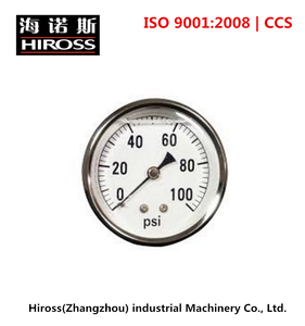 Higher Accuracy 1.6% Industrial Oil Pressure Gauges, 0-100 PSI