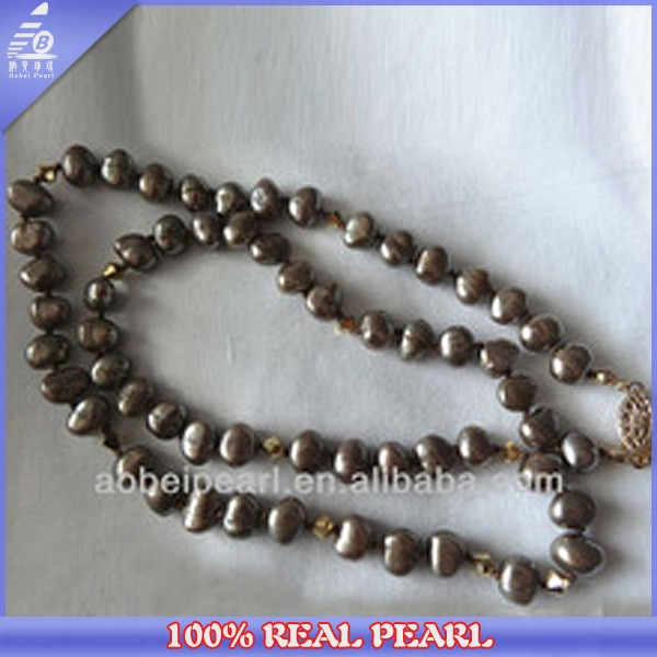 Popular Fashion Design Wholesale Natural Freshwater Traditional Pearl Necklaces