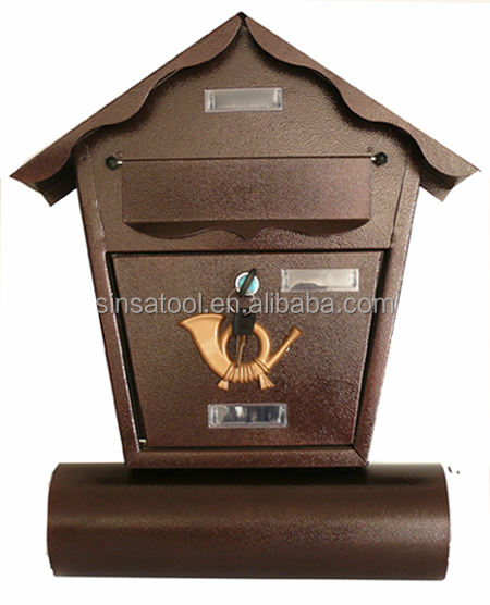 Waterproof wall mounted mailbox with newspaper holder