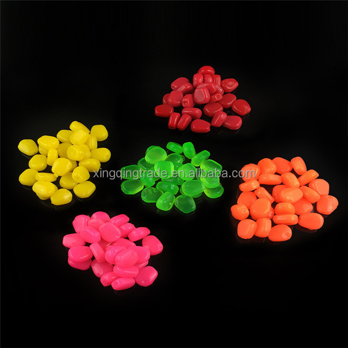 Fishing lure 5 color simulation of corn particles with their own flavor bait scented plastic soft pesca