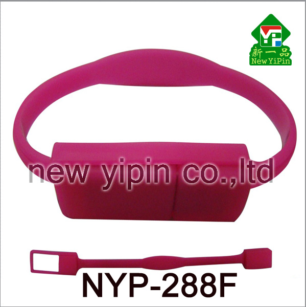 Xin Yipin Fashion multiple color choices SLC Logo Customize silicone bracelet USB Flash Drives