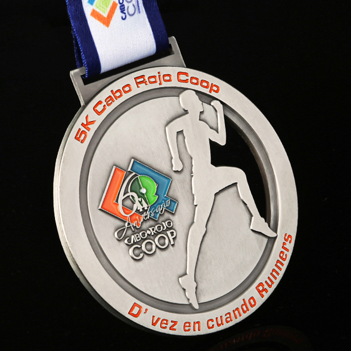 Custom Design High Quality Classic Metal 3D Race Medals Custom Sporty Man Medal