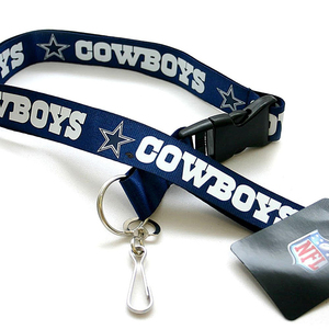 Custom silk printed personalized NFL Lanyard