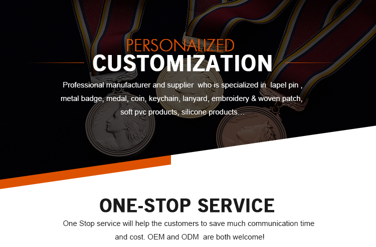Top sale customized with your own design blank ribbon for medals