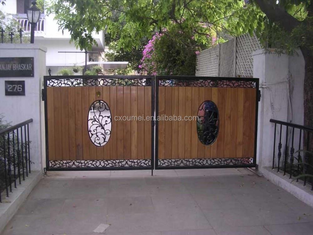 Outdoor Steel Wood Main Gate Design Buy Gate DesignsDifferent