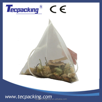 Pyramid tea bag pre-tagged package material ultrasonic sealing nylon material