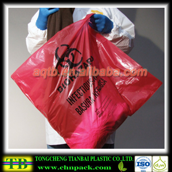 Red medical waste Bag,Dustbin Liners